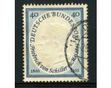 1955 - LOTTO/11856 - GERMANIA FEDERALE - 40p. SCHILLER - USATO