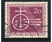 1955 - LOTTO/11859 - GERMANIA FEDERALE - 20p. BATTAGLIA  DI LECHFELD - USATO