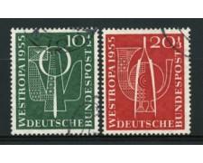 1955 - LOTTO/11860 - GERMANIA FEDERALE - ESPOSIZIONE WESTROPA 2v. - USATI