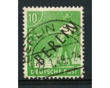 1948 - LOTTO/11928 - BERLINO - 10p. VERDE GIALLO - USATO