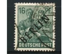 1948 - LOTTO/11929 - BERLINO - 16p. VERDE SCURO - USATO