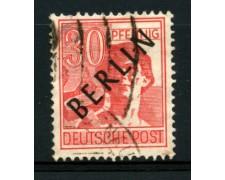 1948 - LOTTO/11930 - BERLINO - 30p. ROSSO - USATO