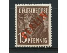 1949 - LOTTO/11933 - BERLINO - 15p. BRUNO SCURO - LING.