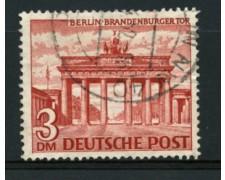 1949 - LOTTO/11934 - BERLINO - 3 Dm. PORTA DI BRANDEBURGO - USATO
