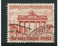 1949 - LOTTO/11935 - BERLINO - 3 Dm. PORTA DI BRANDEBURGO - USATO
