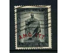1949 - LOTTO/11984 - TRIESTE A - 20 Lire  G.MAZZINI - USATO