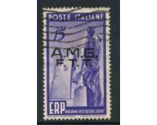 1949 - LOTTO/11985 - TRIESTE A - 15 Lire ERP - USATO