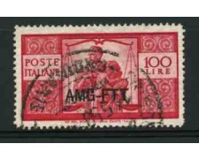 1949 - LOTTO/11986 - TRIESTE A - 100 Lire DEMOCRATICA - USATO