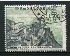 1958 - LOTTO/12000 - SAN MARINO - 500 LIRE VEDUTA PANORAMICA - USATO