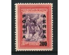 1948 - LOTTO/12013 - SAN MARINO - POSTA AEREA 200 SU 25 Lire - LING.
