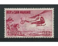 1961 - LOTTO/12017 - SAN MARINO - POSTA AEREA 1000 LIRE ELICOTTERO - LING.