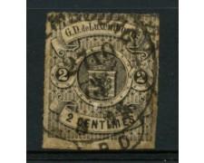 1865 - LOTTO/12021 - LUSSEMBURGO - 2c. NERO - USATO
