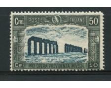 1930 - LOTTO/12047 - REGNO - 50+10c. PRO MILIZIA - NUOVO