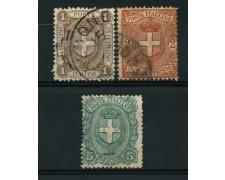1896 - LOTTO/12055 - REGNO - STEMMI  3v. - USATI