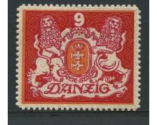 1922 - LOTTO/12097 - DANZICA - 9m. STEMMA - LING.