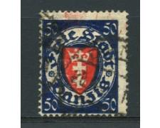 1924/37 - LOTTO/12098 - DANZICA - 50p. STEMMA - USATO
