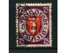 1924/37 - LOTTO/12099 - DANZICA - 75 o. STEMMA - USATO