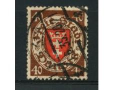 1935 - LOTTO/12101 - DANZICA - 40p. BRUNO STEMMA - USATO