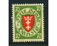 1935 - LOTTO/12102 - DANZICA - 70p. STEMMA - LING.