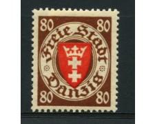 1935 - LOTTO/12103 - DANZICA - 80p. STEMMA - LING.