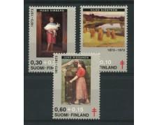 1973 - LOTTO/12129 - FINLANDIA - PRO TUBERCOLOTICI QUADRI 3v. - NUOVI