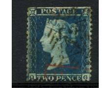 1855 - LOTTO/12137 - GRAN BRETAGNA - 2p. AZZURRO - USATO