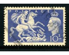 1951 - LOTTO/12151 - GRAN BRETAGNA - 10s. RE GIORGIO - USATO