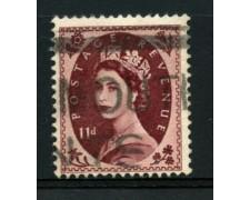 1952/54 - LOTTO/12155 - GRAN BRETAGNA - 11p. BRUNO LILLA ELISABETTA - USATO