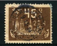 1924 - LOTTO/11162 - SVEZIA - 45 ore CONGRESSO UPU - USATO