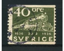 1936 - LOTTO/12163 - SVEZIA - 40ore CENTENARIO POSTE - USATO