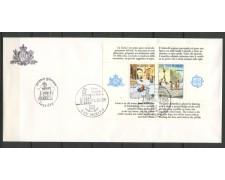 1989 - LOTTO/12186 - SAN MARINO - FOGLIETTO EUROPA BUSTA FDC