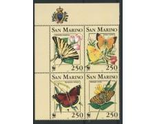 1993 - LOTTO/12207 - SAN MARINO - FARFALLE 4v. - NUOVI