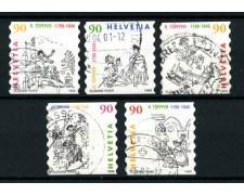 1999 - LOTTO/15213U - SVIZZERA - RODOLPHE TOPFFER 5v. USATI