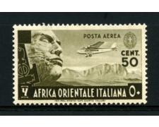 1938 - LOTTO/12254 - AFRICA ORIENTALE - 50 c. POSTA AEREA - LING.