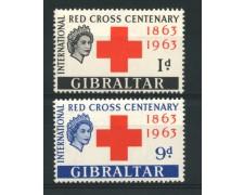 1963  - LOTTO/12261 - GIBILTERRA - CENTENARIO CROCE ROSSA 2v . - NUOVI