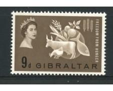 1963 - LOTTO/12262 - GIBILTERRA - CAMPAGNA CONTRO LA FAME - NUOVO
