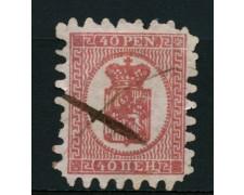 1866 - LOTTO/12263 - FINLANDIA - 40p. ROSA SU LILLA - USATO