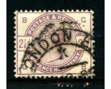 1883 - LOTTO/12303 - GRAN BRETAGNA - 2,5p. VIOLETTO POS. BG  - USATO
