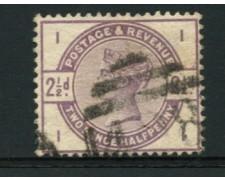 1883 - LOTTO/12304 - GRAN BRETAGNA - 2,5p. VIOLETTO POS. II  - USATO