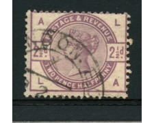 1883 - LOTTO/12305 - GRAN BRETAGNA - 2,5p. VIOLETTO POS. AL  - USATO