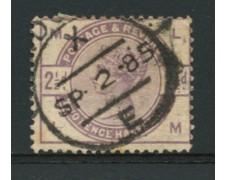1883 - LOTTO/12306 - GRAN BRETAGNA - 2,5p. VIOLETTO POS. ML  - USATO