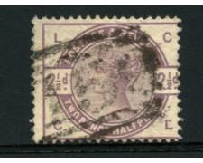 1883 - LOTTO/12307 - GRAN BRETAGNA - 2,5p. VIOLETTO POS. LC   - USATO