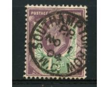 1902 - LOTTO/12316 - GRAN BRETAGNA - 1,5p. RE EDOARDO VII° - USATO