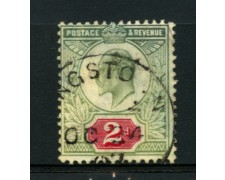 1902 - LOTTO/12318 - GRAN BRETAGNA - 2p. RE EDOARDO VII° - USATO