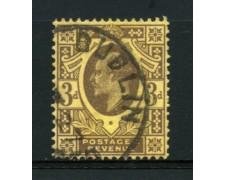 1902 - LOTTO/12319 - GRAN BRETAGNA - 3p. RE EDOARDO VII° - USATO