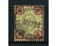 1902 - LOTTO/12320 - GRAN BRETAGNA - 4p. RE EDOARDO VII° - USATO