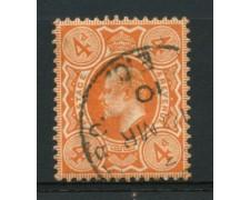 1909 - LOTTO/12323 - GRAN BRETAGNA - 4p. RE EDOARDO VII° - USATO