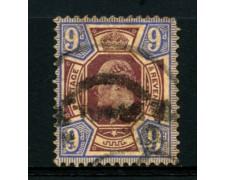 1902 - LOTTO/12325 - GRAN BRETAGNA - 9p.  RE EDOARDO VII° - USATO