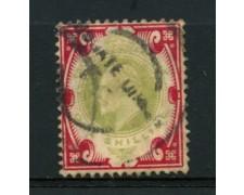 1902 - LOTTO/12326 - GRAN BRETAGNA - 1s. RE EDOARDO VII° - USATO