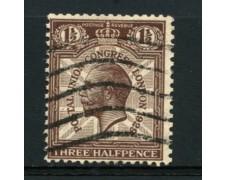 1929 - LOTTO/12333 - GRAN BRETAGNA - 1,5p. CONGRESSO UPU FILIGRANA ROVESCIATA - USATO